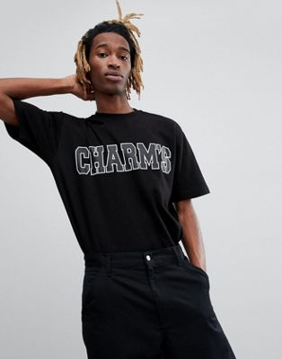 Черная футболка с логотипом Charm's