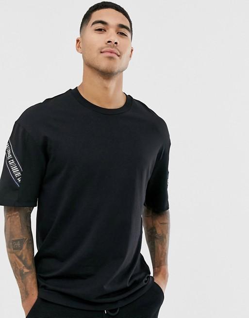 Изображение 1 из Черная футболка с отделкой лентой Jack & Jones - Core