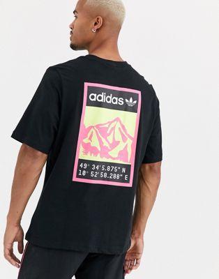 Черная футболка с принтом на спине adidas Originals adiplore
