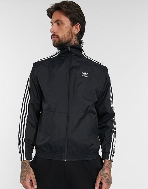 Черная куртка с логотипом adidas Originals