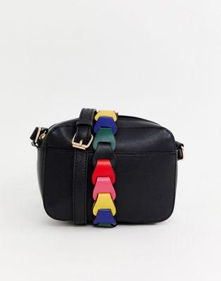 Черная сумка через плечо с ремешком Warehouse