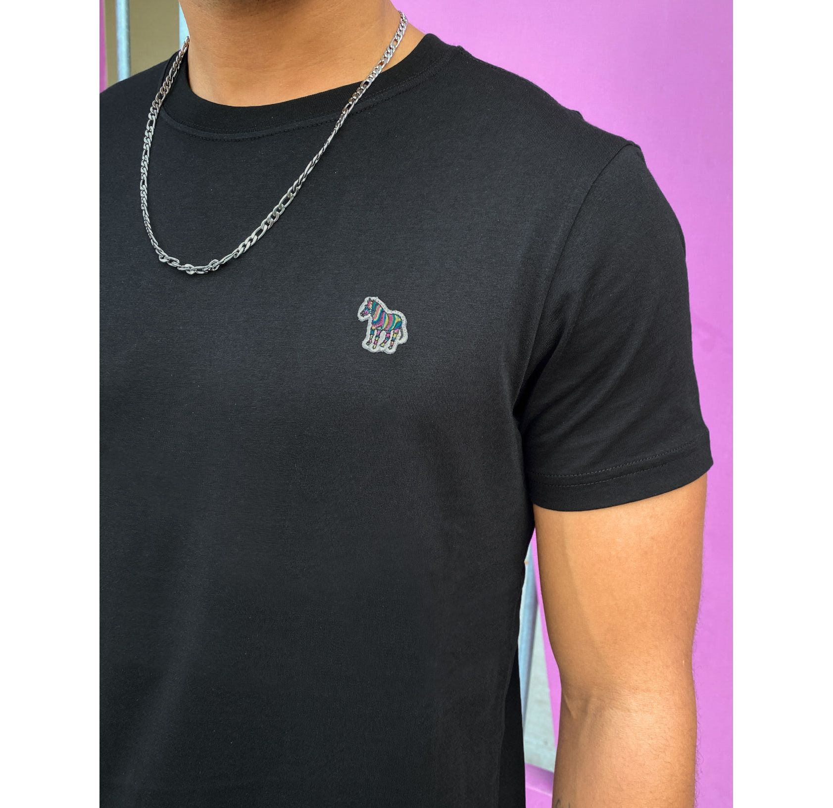 PS Paul Smith slim fit zebra logo t-shirt in black - ASOS Price Checker