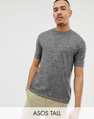 Изображение 1 из Черно-белая футболка ASOS DESIGN Tall