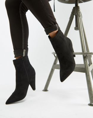 Черные ботильоны с острым носком Glamorous