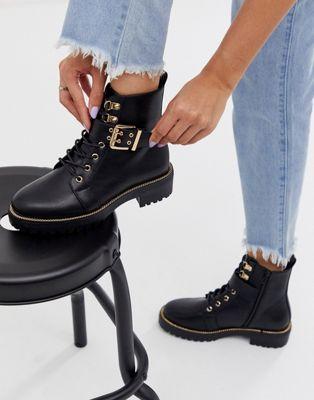 Черные ботинки на шнуровке ASOS DESIGN Armour