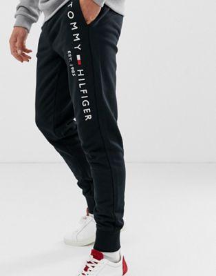 Черные джоггеры с вышитым логотипом Tommy Hilfiger