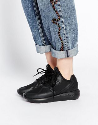 Черные кожаные кроссовки adidas Originals Tubular