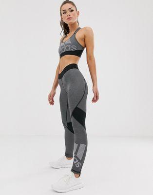 Изображение 1 из Черные леггинсы с логотипом adidas Training