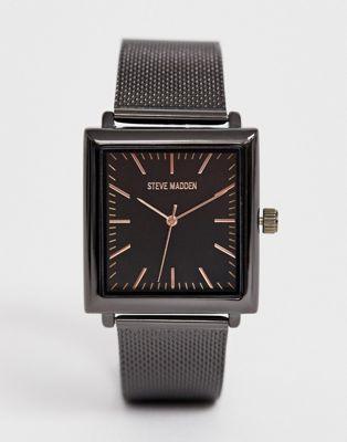 Черные мужские часы Steve Madden