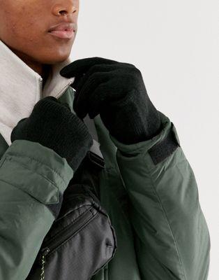 Черные перчатки Only & Sons