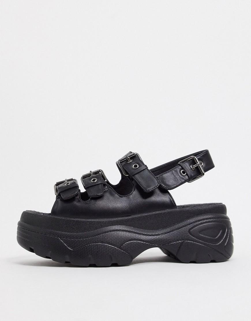 Черные сандалии на платформеKoi Footwear-Черный