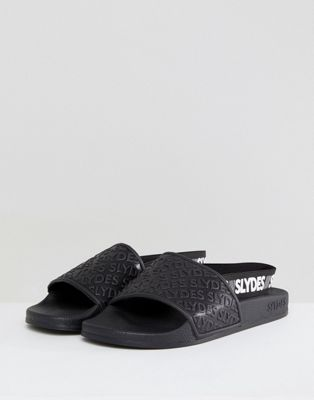 Черные шлепанцы с логотипом Slydes Roamer