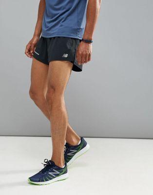 Черные шорты с разрезом 3 дюйма New Balance Running Impact MS61231BK