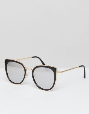 """Черные солнцезащитные очки """"кошачий глаз"""" Jeepers Peepers"""