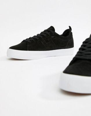 Черные замшевые кроссовки HUF Clive
