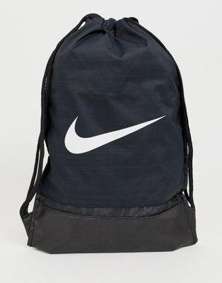 Черный рюкзак на шнурке с галочкой Nike BA5338-010 Nike