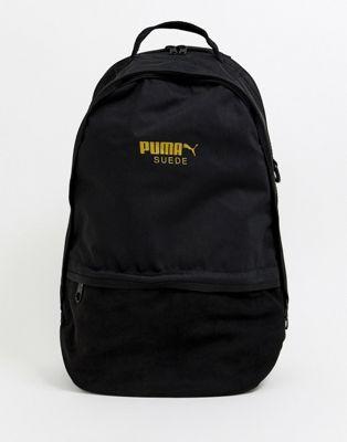 Черный замшевый рюкзак Puma
