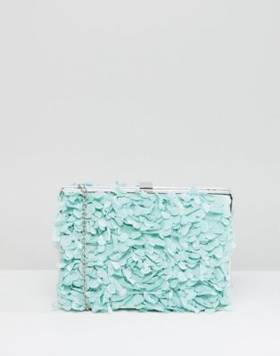 Chi Chi London Floral Applique Clutch Bag