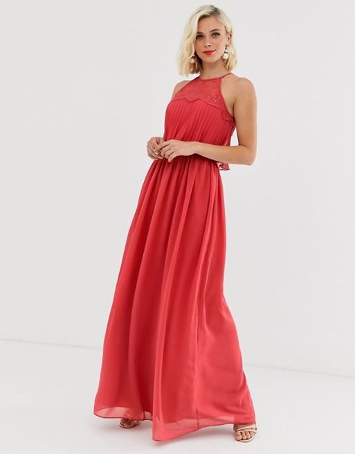 Chi Chi London - Robe longue dos-nu - Rouge brûlé