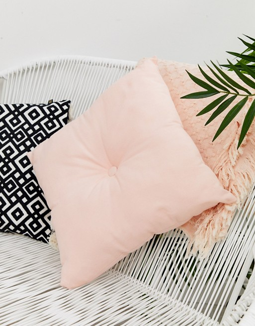 Chickidee square quilted cushion