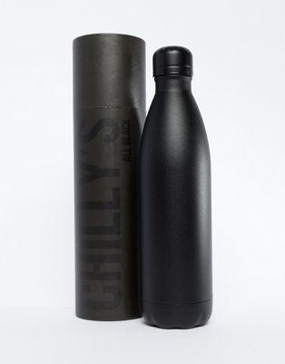 Chillys - Bottiglia per l'acqua nera da 750