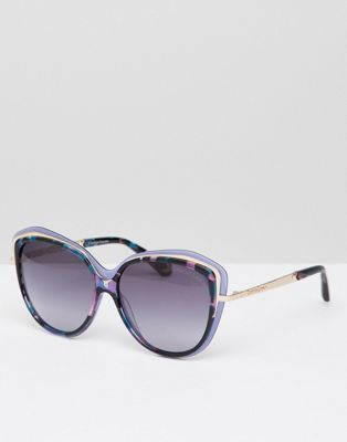Christian La Croix Cat Eye Sunglasses In Blue