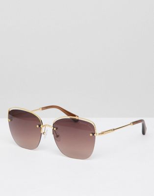 Christian La Croix Cat Eye Sunglasses In Gold