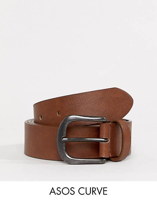 Cinturón para vaqueros en color tostado vintage de ASOS DESIGN Curve