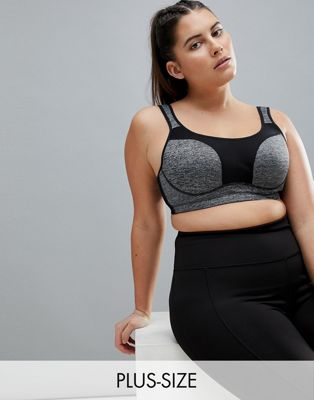 City Chic Grey Space Dye Sports Bra