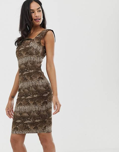 City Goddess leopard print mini dress