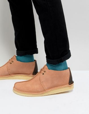 Clarks Originals Desert Trek Suede Shoes In Pink