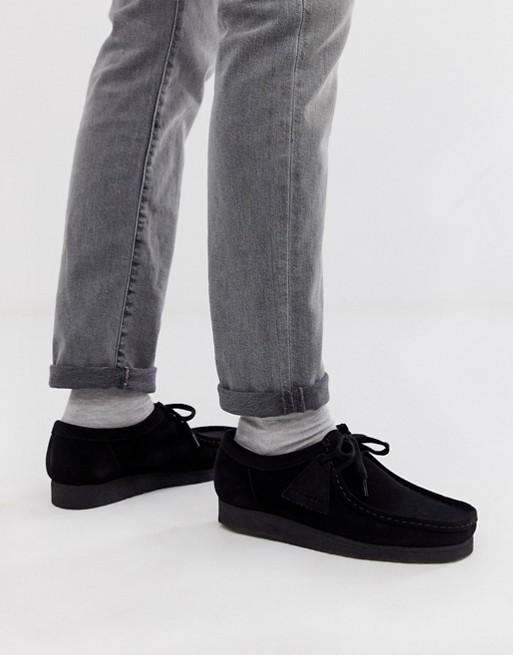 Clarks - Originals - Wallabee – Czarne buty zamszowe