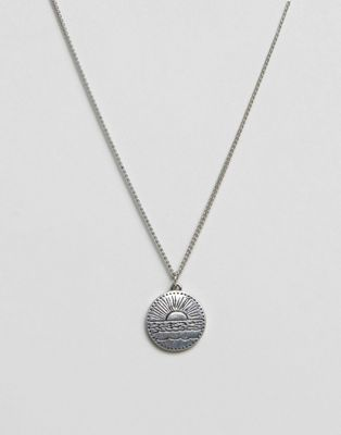 Image 1 of Classics 77 disc pendant necklace in antique silver