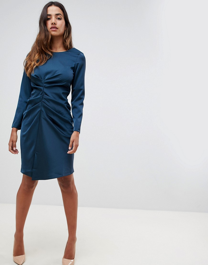 Closet London Asymmetrical Draped Dress by Closet