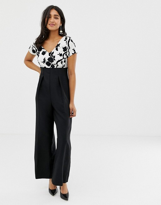 Closet Short Sleeve Cut Out Back Jumpsuit