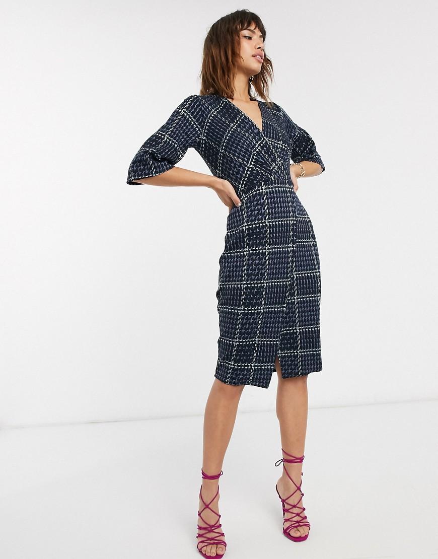 Closet – Wickelkleid mit Glockenärmeln-Mehrfarbig   Bekleidung > Kleider > Wickelkleider   closet london