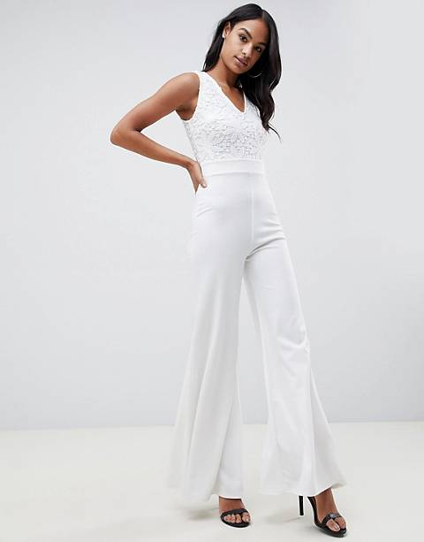 Club L lace bodice jumpsuit