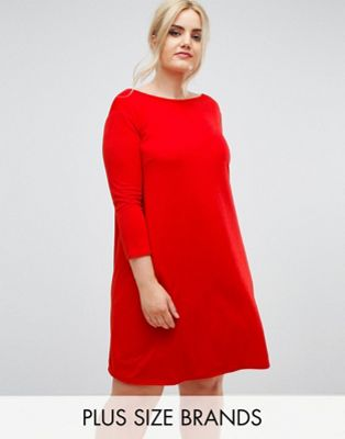 Club L Plus Oversize Crepe Swing Dress