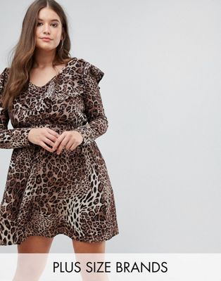 Club L Plus Ruffle Wrap Dress