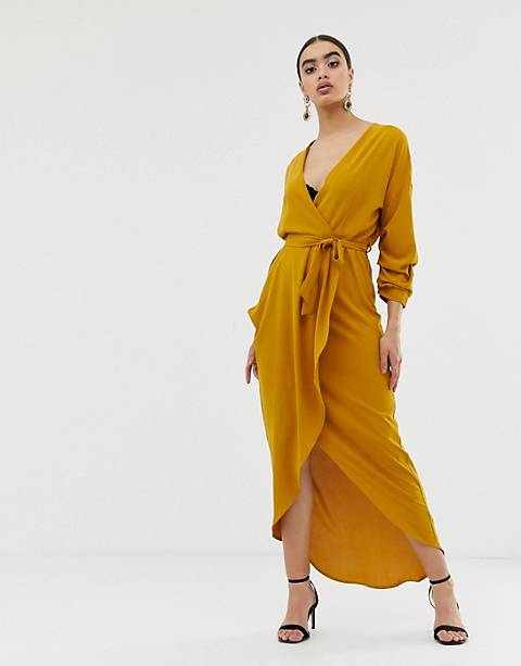Club L ruched detail maxi dress