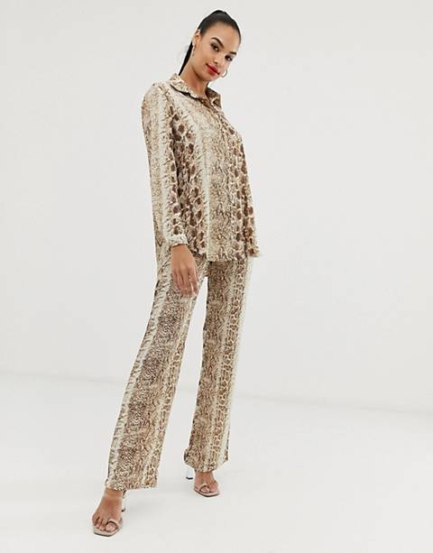 Club L snake detail print pants