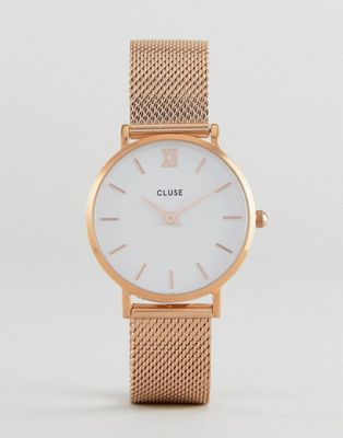 CLUSE CL30013 Minuit Mesh Watch In Rose Gold