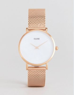 CLUSE CL30047 Minuit La Perle Mesh Watch In Rose Gold