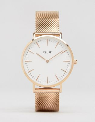 CLUSE La Boheme Mesh Rose Gold Watch CL18112