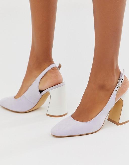 Image 1 of Co Wren slingback curved block heels