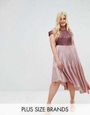 Coast Curve Delores velvet pleated dress