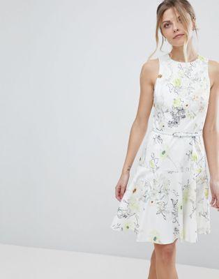 Coast Mezel Floral Print Skater Dress