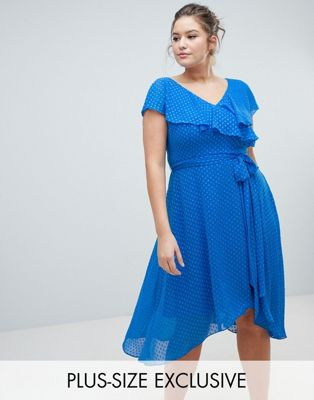 Coast Plus Dobby Wrap Dress