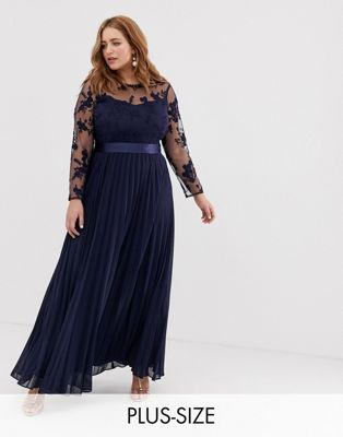 Coast Plus Odetta embroidered bridesmaid maxi dress