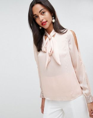 Coast Sequin Cuff Blouse